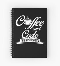 Coffee and code Spiral Notebook
