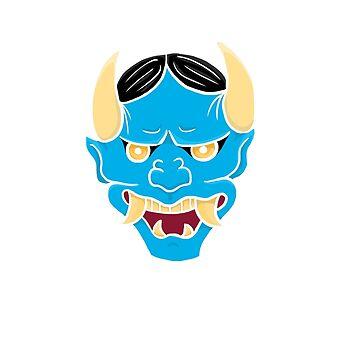 Blue Oni Mask by tuniit