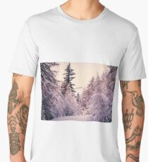 first snow of the winter in the wood Men's Premium T-Shirt