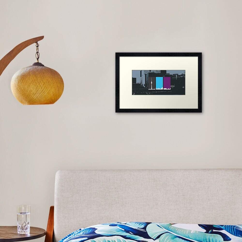 3 sides of Berlin Framed Art Print