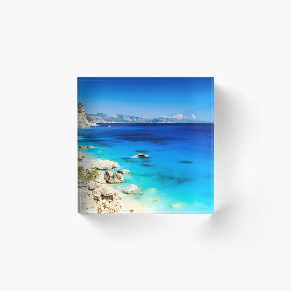 The beautiful Cala Goloritzè in Sardinia Acrylic Block