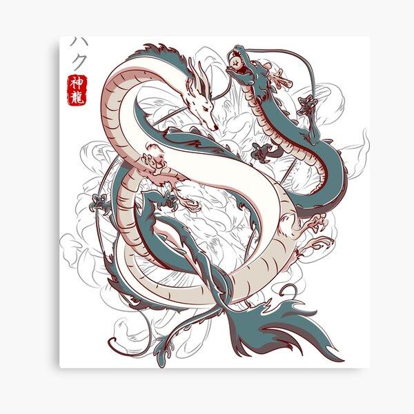 Japanese Dragons Canvas Print