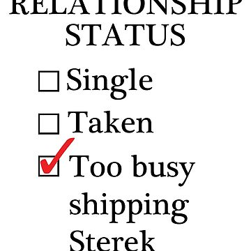 Relationship Status - Too Busy Shipping Sterek by A-Starry-Night