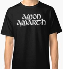 Band Amon Amarth Logo White Classic T-Shirt