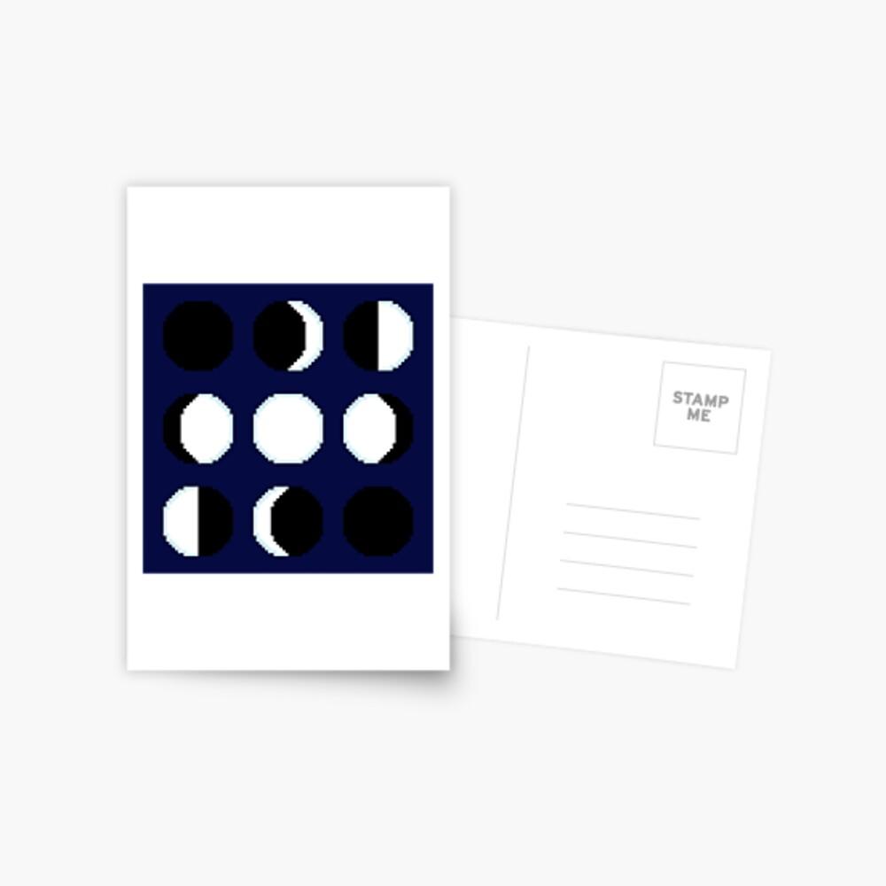Phasen des Mondes Postkarte