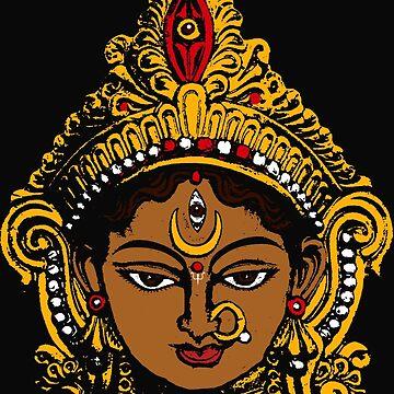 Goddess Durga by ramanandr