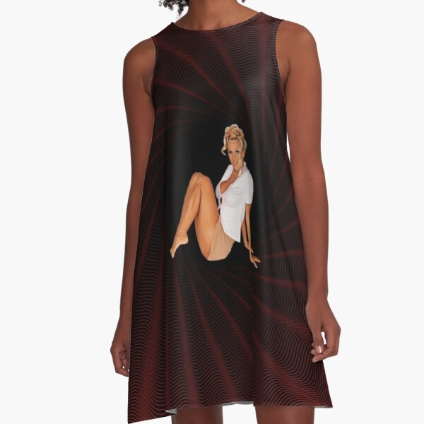 Pamela Anderson - Celebrity (Oil Paint Art) Modern Style A-Line Dress