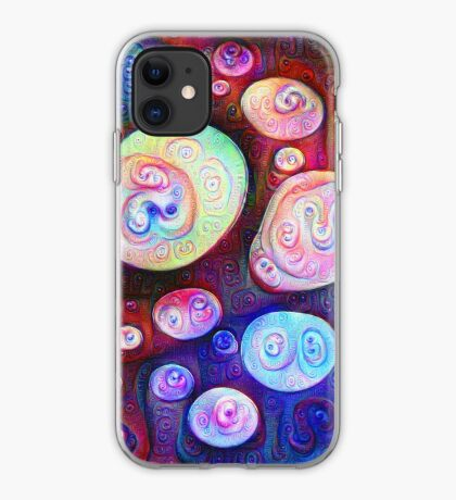 #DeepDream bubbles on frozen lake 5x5K v1450615886 iPhone Case