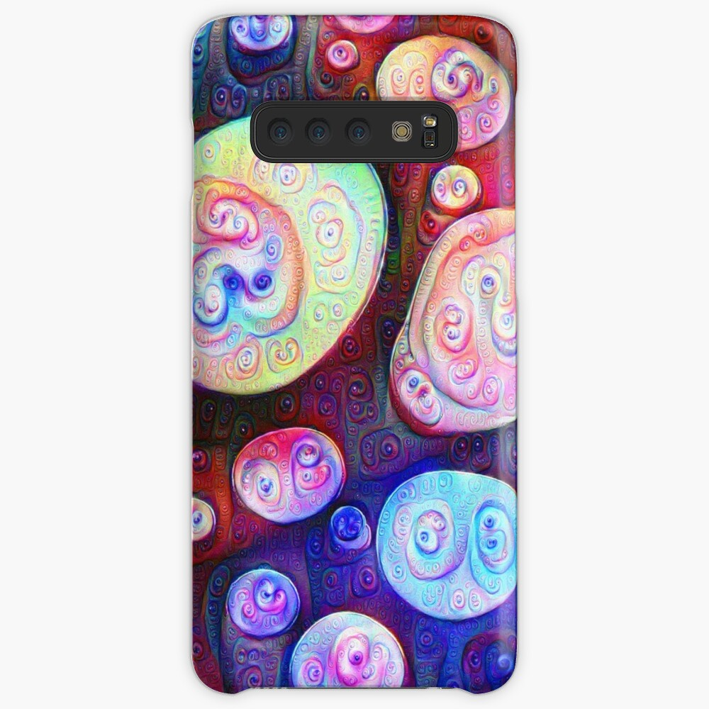 #DeepDream bubbles on frozen lake 5x5K v1450615886 Case & Skin for Samsung Galaxy