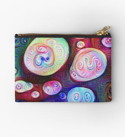 #DeepDream bubbles on frozen lake 5x5K v1450615886 Zipper Pouch