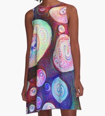 #DeepDream bubbles on frozen lake 5x5K v1450615886 A-Line Dress