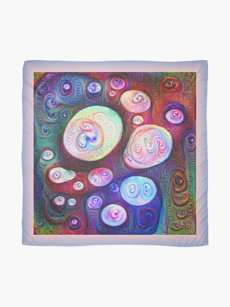Alternate view of #DeepDream bubbles on frozen lake 5x5K v1450615886 Scarf
