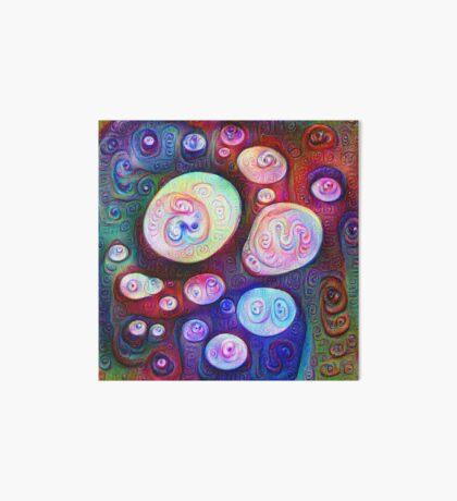 #DeepDream bubbles on frozen lake 5x5K v1450615886 Art Board Print