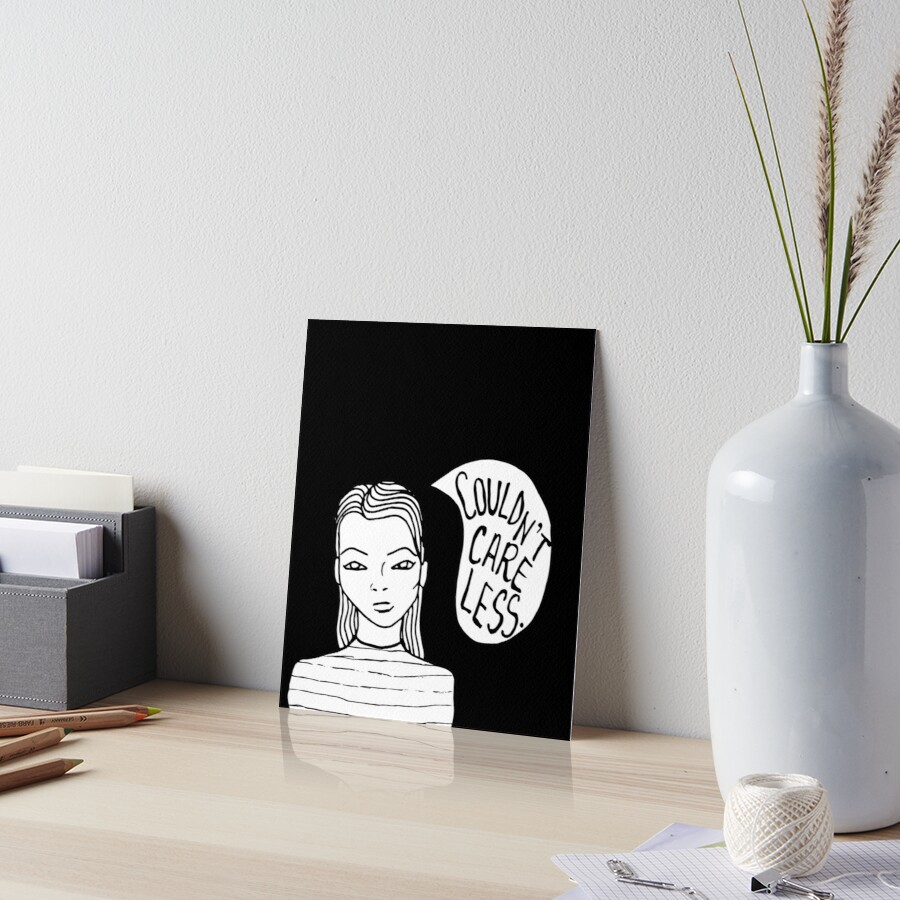 Attitude - Black Art Board Print