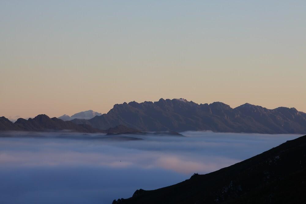 Winter Sunrise 1, South West Tasmania by David Jamrozik