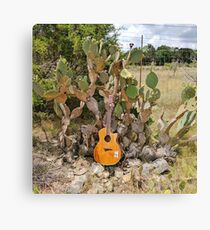 Cactus Guitar Canvas Print