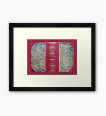 Antique Book Cover Framed Print