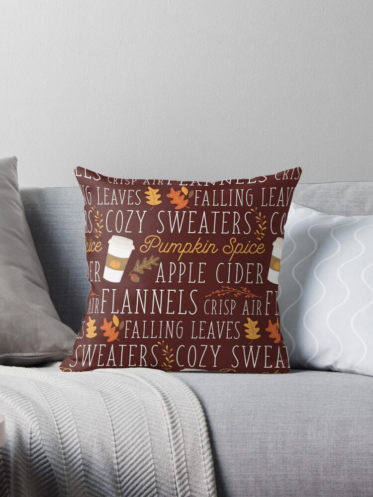 Fall Feelings Throw Pillow By Birchandbark Redbubble
