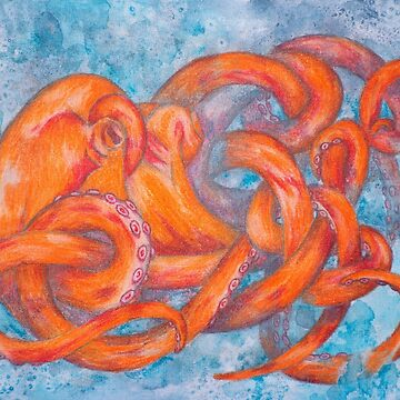 Orange Octopus by SchwaigerStudio