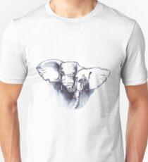 Elephant cuddles - ink painting T-Shirt