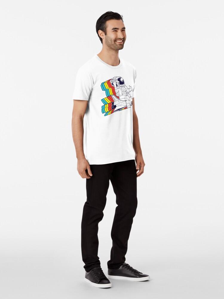 Alternate view of funky astronaut Premium T-Shirt