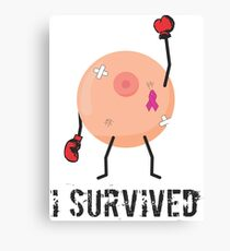 breast cancer (i survived) Canvas Print
