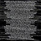 Desiderata Poem silver etched on Black Marble by Desiderata4u