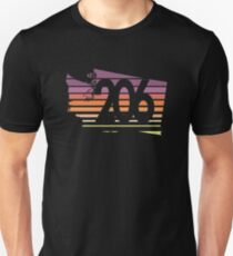 206 Washington Sunset Gradient Unisex T-Shirt