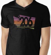 206 Washington Sunset Gradient Men's V-Neck T-Shirt