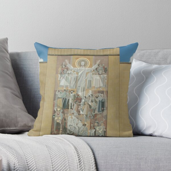 Hesburgh Library-University of Notre Dame Throw Pillow