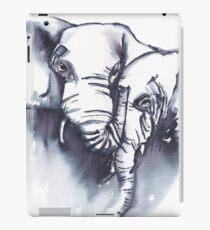 Elephant cuddles - ink painting iPad Case/Skin