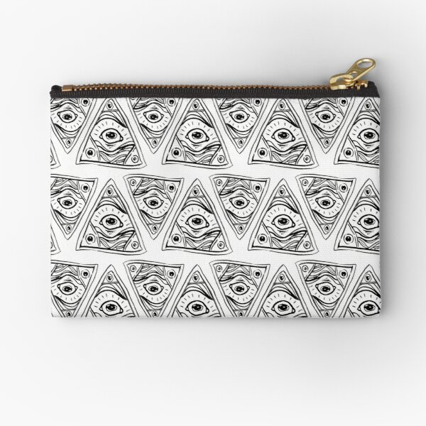 Wobbly Illuminati Eye Zipper Pouch