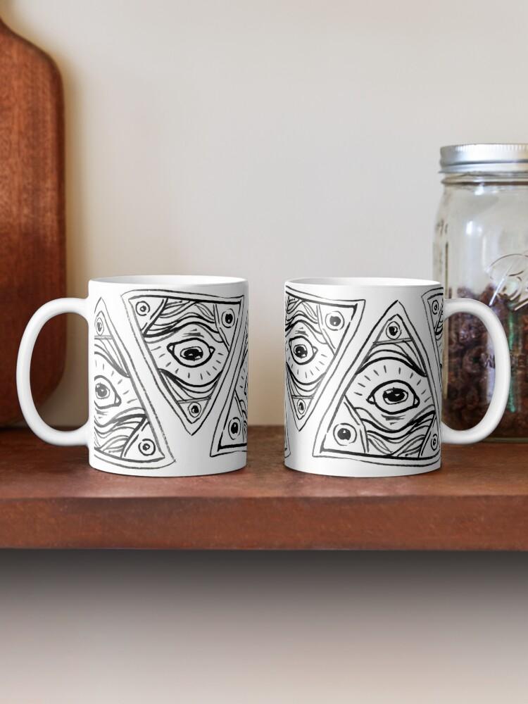 Alternate view of Wobbly Illuminati Eye Mug