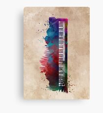 keyboard art #keyboard #piano Canvas Print