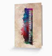 keyboard art #keyboard #piano Greeting Card
