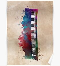keyboard art #keyboard #piano Poster