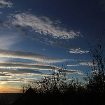 An Early Morning Winter Sky from Our Front Doorstep in Romania by ZipaC