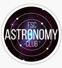 FSC Astronomy Club Sticker Sticker