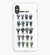 Rainbow Six Mini Agentes  iPhone Case/Skin