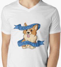 Everything is Connected Corgi Men's V-Neck T-Shirt