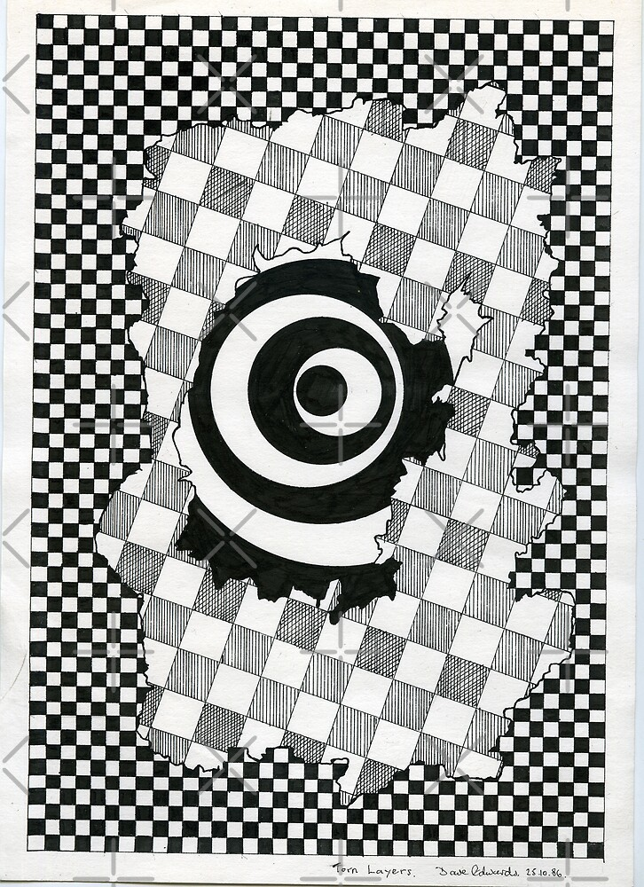 126 - TORN LAYERS - DAVE EDWARDS - INK - 1986 by BLYTHART
