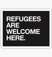Refugees Are Welcome Here Design Sticker