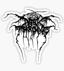 Band Darkthrone Logo Black Sticker