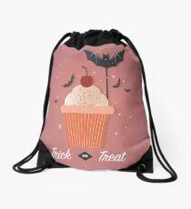 Halloween Cup Cake Drawstring Bag