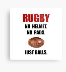 Rugby Balls Metal Print