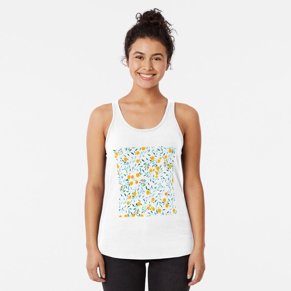 Naranjo Camiseta con espalda nadadora