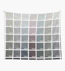 Shades of Grey Pantone Wall Tapestry