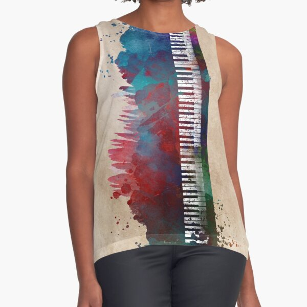 keyboard art #keyboard #piano Sleeveless Top