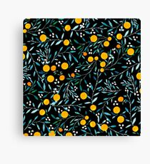Oranges on Black Canvas Print