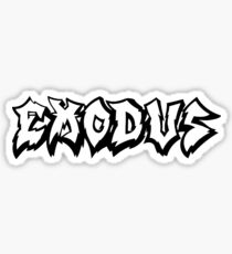 Band Exodus Logo White Sticker
